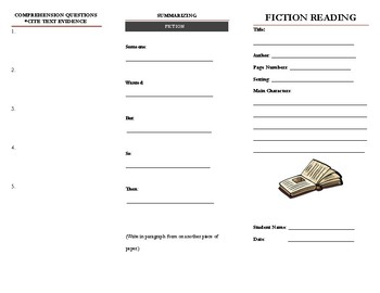 Fiction Active Reading Brochure