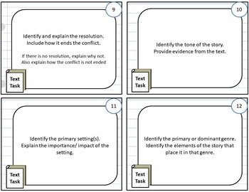 Fiction Analysis and Review Activities, for Any Novel or Short Story-WORD