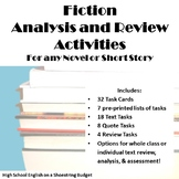 Fiction Analysis and Review Activities, for Any Novel or S