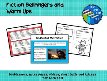 Fiction Bell ringers - Middle School Warm Ups