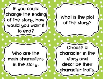 Fiction Book Club Discussion Cards