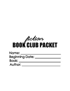 Fiction Book Club Packet