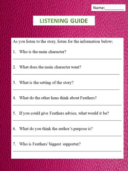 Fiction Book Power Point with Activities for Story Elements/ Effort Discussion