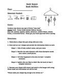 Fiction Book Report - Book Mobiles - Directions