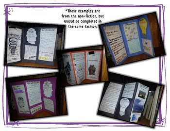 Fiction Book Report Pamphlet, Tri-fold, Brochure