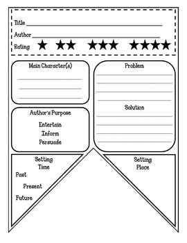 Fiction Book Report Pennant