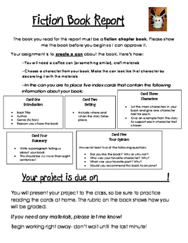 Fiction Book Report Project