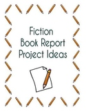 Fiction Book Report Project Packet - Includes Instructions