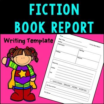 fiction book report template teaching resources teachers pay teachers