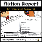 Book Report Templates | Fiction Book Report | Fiction Grap