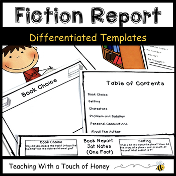 Fiction Book Report: Tiered Report Writing Templates