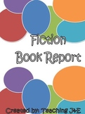 Fiction Book Report plus Rubric