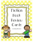 Fiction Book Review Cards