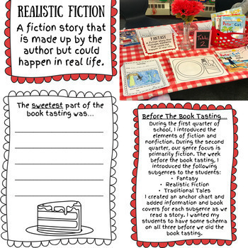 Fiction Book Tasting for Primary Students
