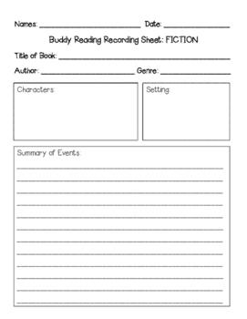 Fiction Buddy Reading
