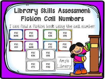 Fiction (FIC) Call Number Library Skills Assessment