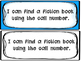 Fiction Call Number Library Skills Assessment