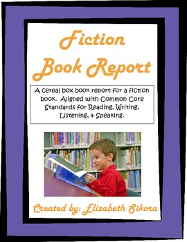 Fiction Cereal Box Book Report