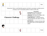 Fiction Character Game