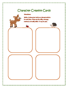 Fiction Character Writing Activity