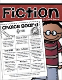 Fiction Choice Board Activities Menu Tic Tac Toe Reading Response