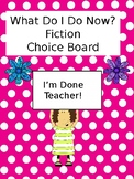 Fiction Menu Choice Board with Activity Printables