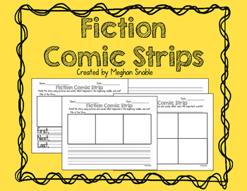 Fiction Comic Strips for Beginning, Middle, and End.