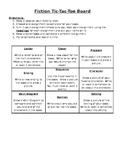 Fiction Common Core Choice Board