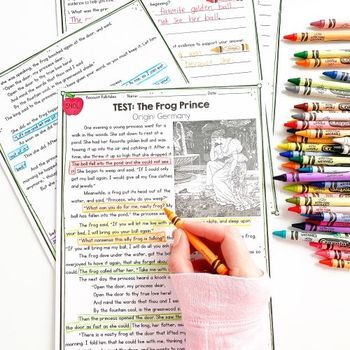Fiction Comprehension Bundle- 3rd Grade Common Core Standards