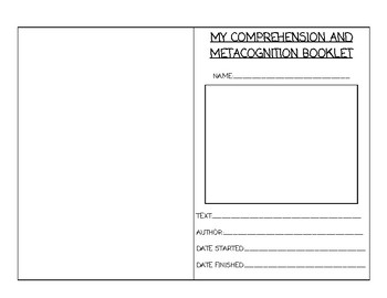 Fiction Comprehension Organizer - Metacognition and Comprehension Features