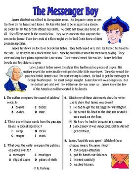 Fiction Comprehension Passages