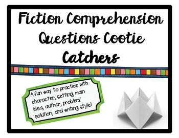 Fiction Comprehension Questions Cootie Catcher