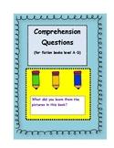 Fiction Comprehension Questions Level A-D
