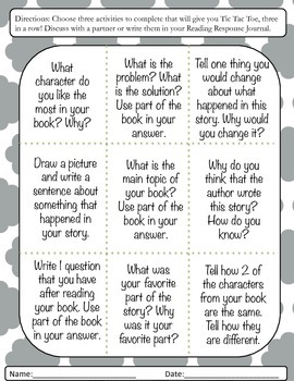 Fiction Comprehension Reader's Response
