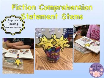 Fiction Reading Response Comprehension Statement Stems