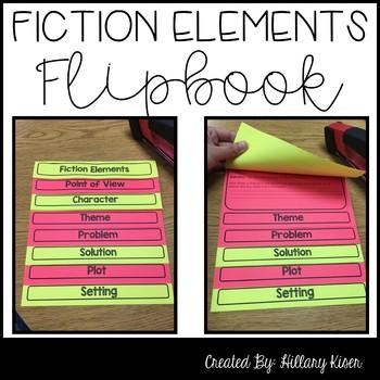Fiction Elements Flipbook