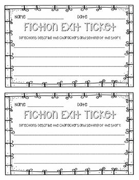 Fiction Exit Ticket