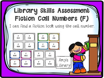 Fiction (F) Call Number Library Skills Assessment