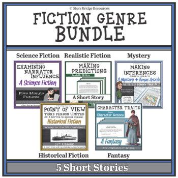 Fiction Genre BUNDLE-5 Fiction Stories for Reading Comprehension