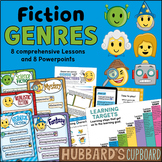 Fiction Genre Activities - Genre Worksheets- Ppts, Posters w Lesson Plans