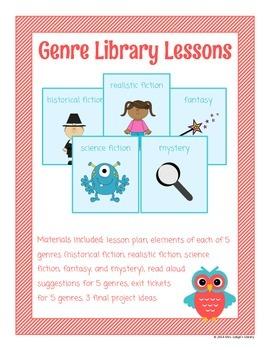 Fiction Genre Library Lessons
