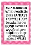 Fiction Genre Posters: Animal Stories