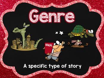 Fiction Genre Posters (Glitter Chalkboard)