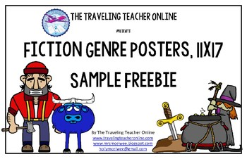 Fiction Genre Posters Sample Freebie, 11x17