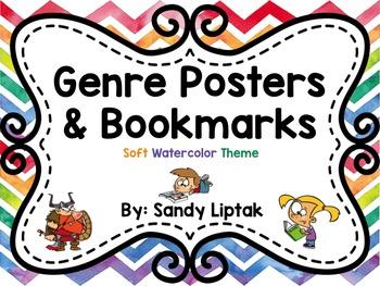 Fiction Genre Posters (Soft Watercolor)