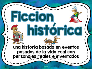 Fiction Genre Posters (Soft Watercolor) in Spanish