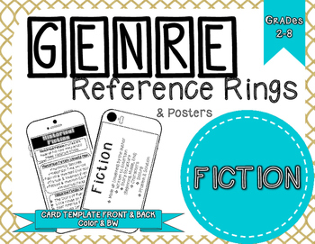 Genre Reference Rings & Poster Set: Fiction Literature