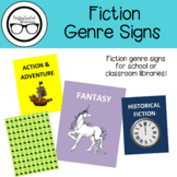 Library Signage: Fiction Genre Signs