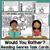 Reading Genres Fiction Would You Rather Task Cards
