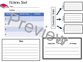Fiction Graphic Organizer